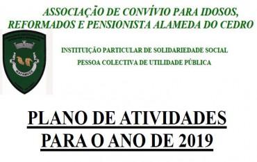 PLANO DE ATIVIDADES PARA 2019
