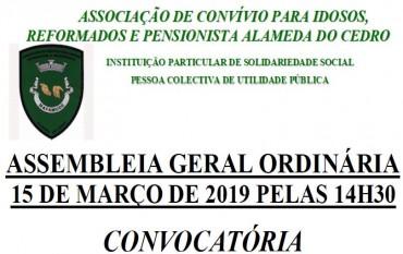 ASSEMBLEIA GERAL EM 15-03-2019